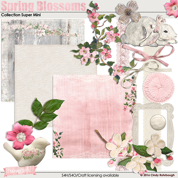 Spring Blossoms Collection Super Mini by Cindy Rohrbough