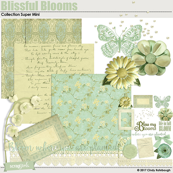 Blissful Blooms Collection Super Mini by Cindy Rohrbough