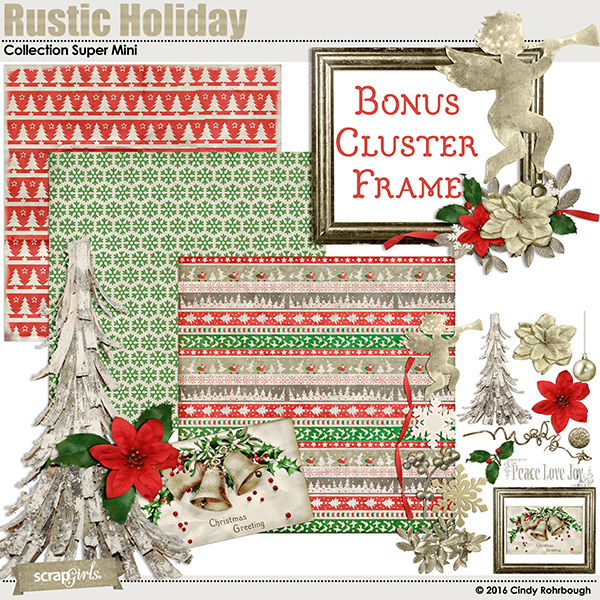 Rustic Holiday Collection Super Mini By Cindy Rohrbough