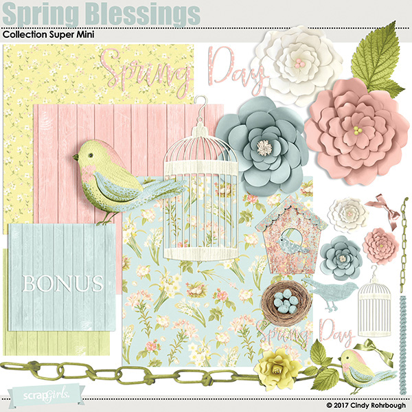 Spring Blessings Collection Super Mini by Cindy Rohrbough