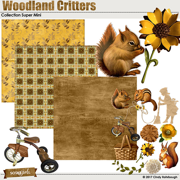 Woodland Critters Collection Super Mini by Cindy Rohrbough