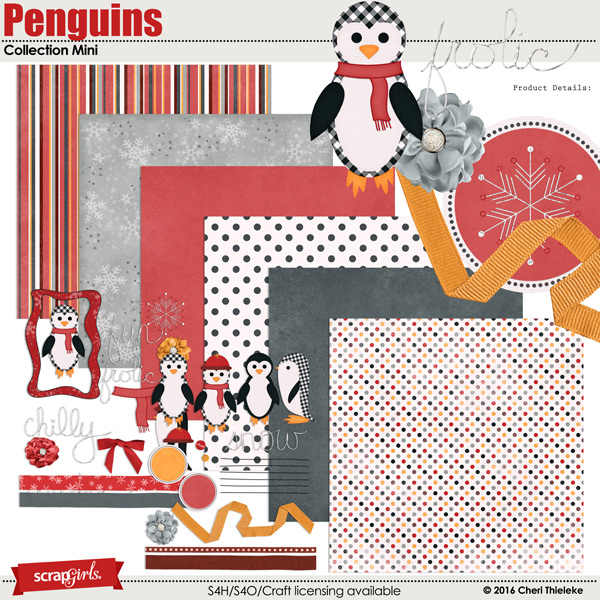 Penguins Collection Mini by Cheri Thieleke