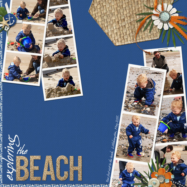 Digital Layout by Anna Burrows featuring ScrapSimple Digital Layout Album Templates: Starry