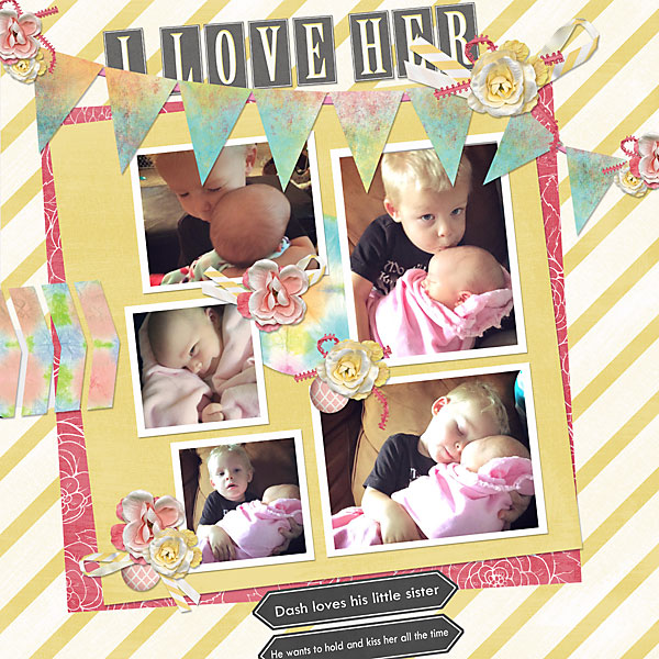Digital Layout by Andrea Hutton featuring ScrapSimple Digital Layout Album Templates: Starry