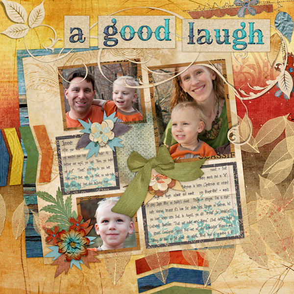 Digital Layout by Cheri Thieleke featuring ScrapSimple Digital Layout Album Templates: Starry