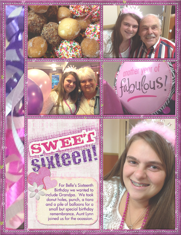 Digital scrapbook layout by Amy Flanagan (product supply list and links below)