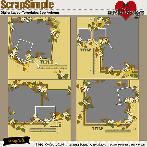 ScrapSimple Digital Layout Templates:See Autumn