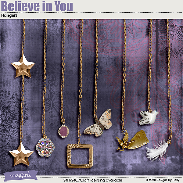 Believe in You Hangers by Designs by Helly