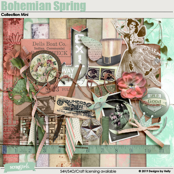Bohemian Spring Collection Mini by Designs by Helly