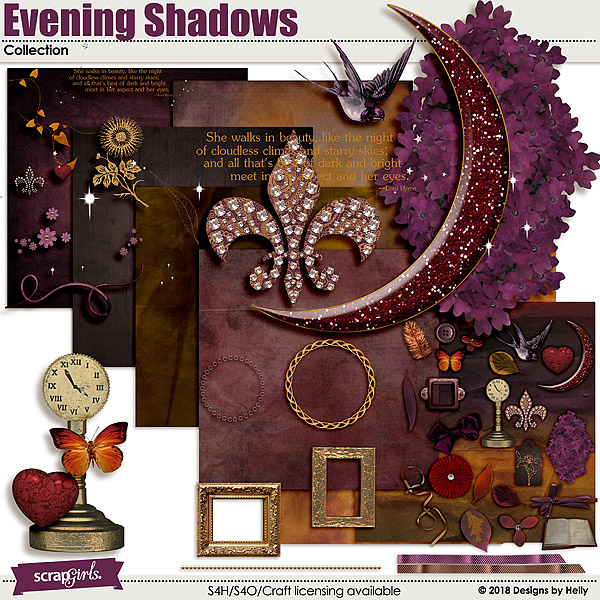 Evening Shadow Collection by Designs by Helly