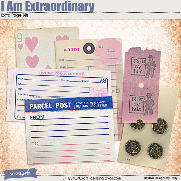Extra Page Bits from I Am Extraordinary by Designs by Helly