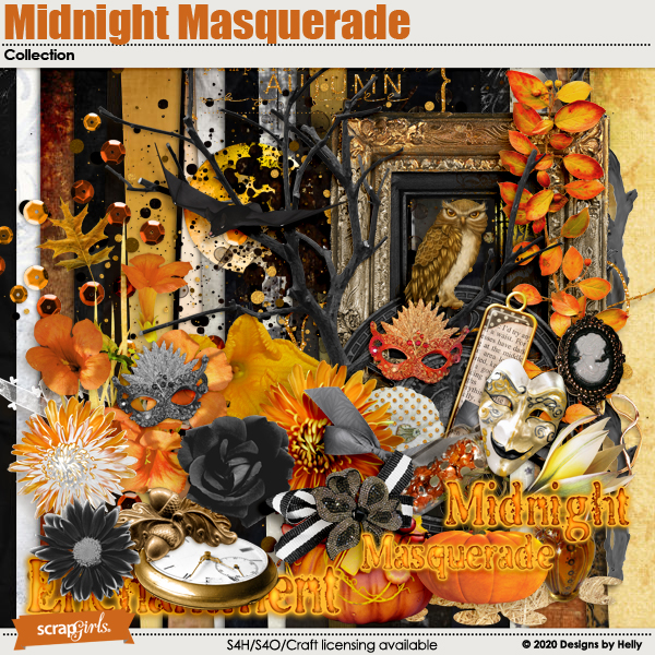 Midnight Masquerade Collection by Designs by Helly