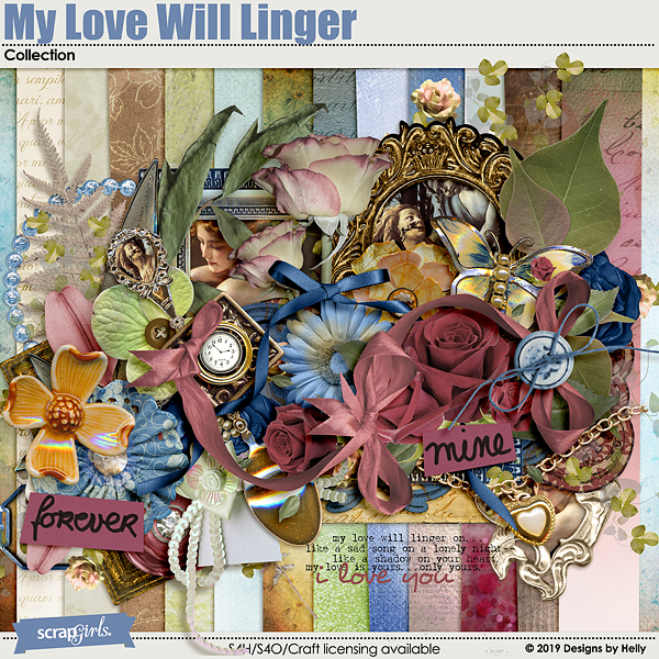 My Love Will Linger Collection by Designs by Helly