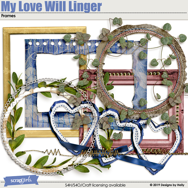 My Love Will Linger Frames by Designs by Helly