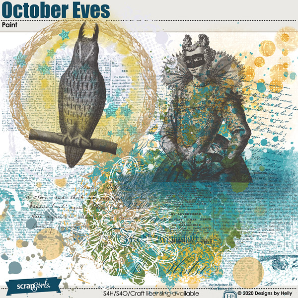 October Eves Paint by Designs by Helly