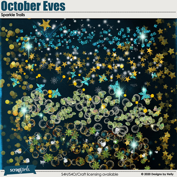 October Eves Sparkle Trails by Designs by Helly