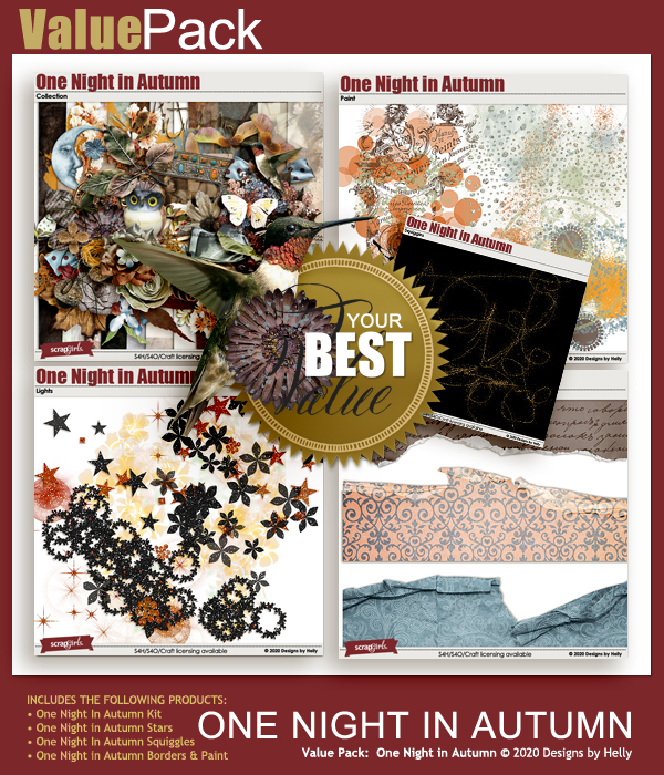 One Night in Autumn Value Pack by Designs by Helly