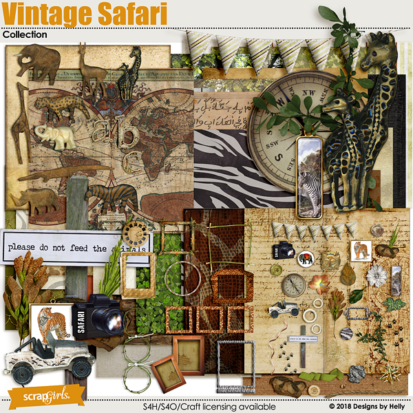 Vintage Safari Collection by Designs by Helly