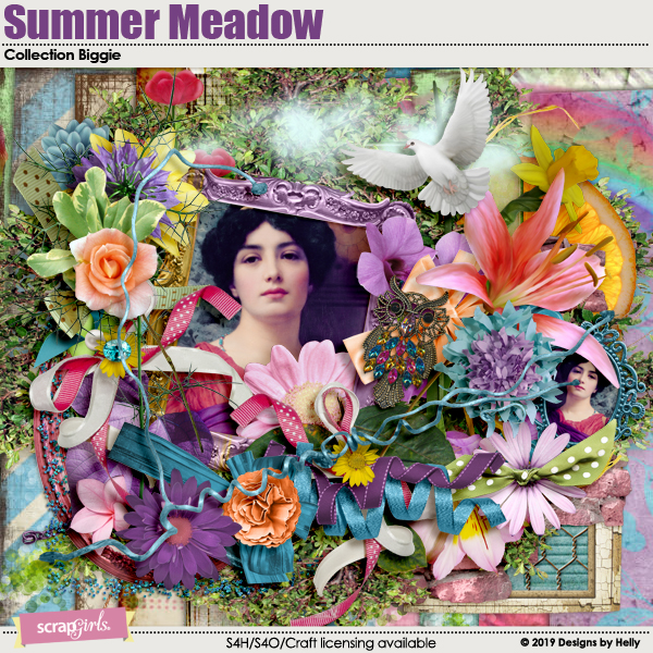 Summer Meadow Collection Biggie by Designs by Helly