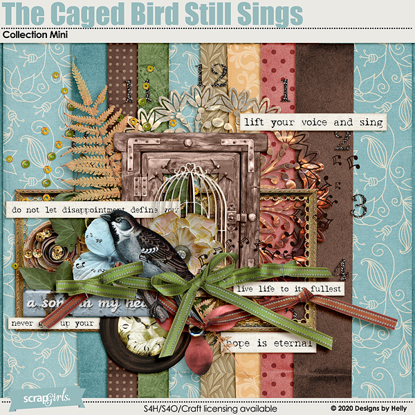 The Caged Bird Still Sings Collection Mini by Designs by Helly