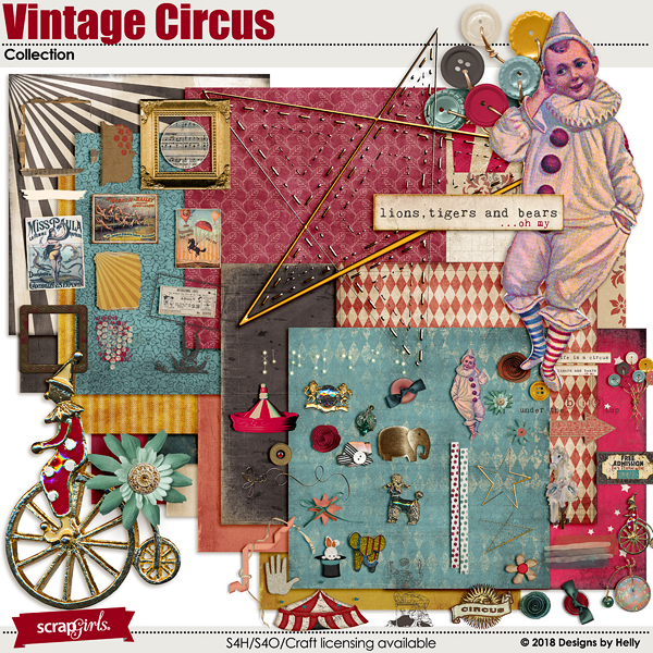Vintage Circus Collection by Designs by Helly