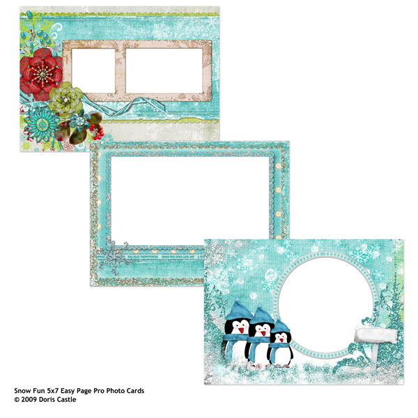 Easy Page Pro: 5x7 Snow Fun Photo Cards