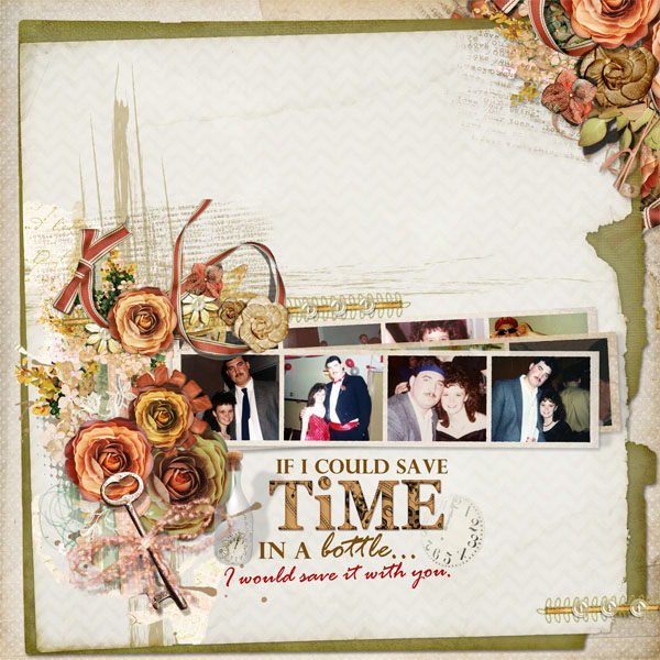 If I Could Save Time in a Bottle layout by Doris Castle