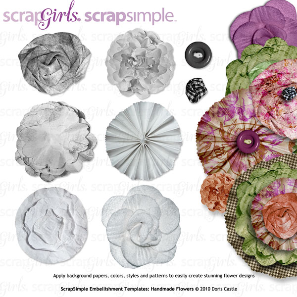 Also available: ScrapSimple Embellishment Templates: Handmade Flowers (sold seprately)