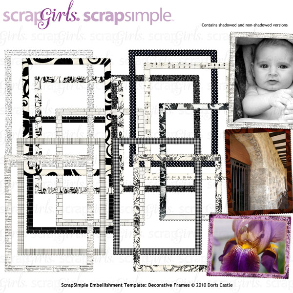 ScrapSimple Embellishment Templates: Decorative Frames