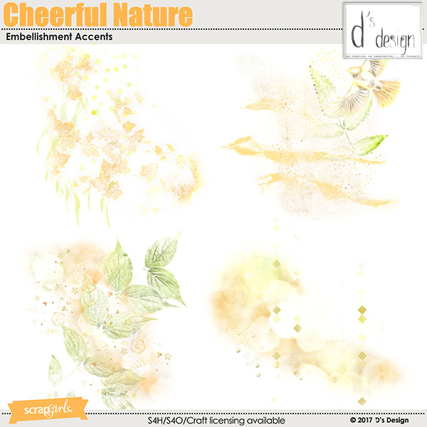 cheerful nature embellishment accents by d's design