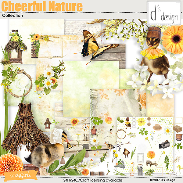 cheerful nature collection by d's design