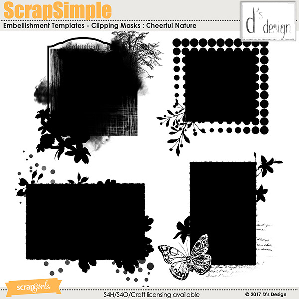cheerful nature clipping masks by d's design