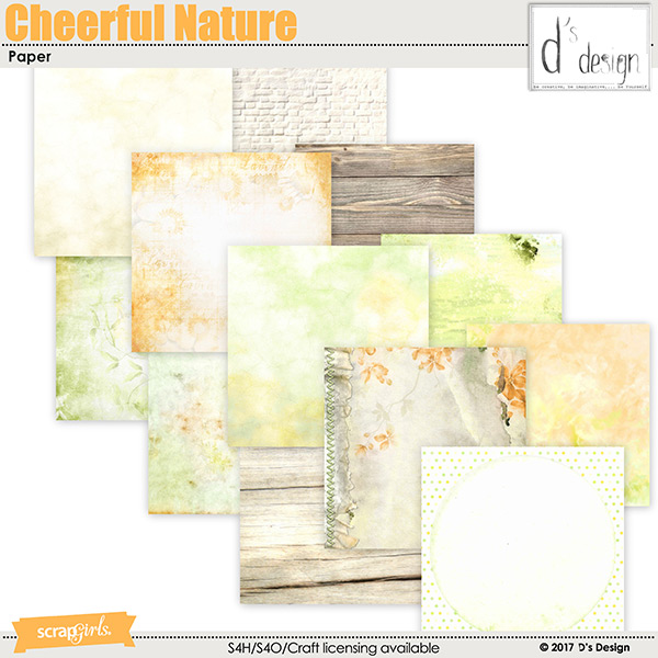 cheerful nature paper by d's design