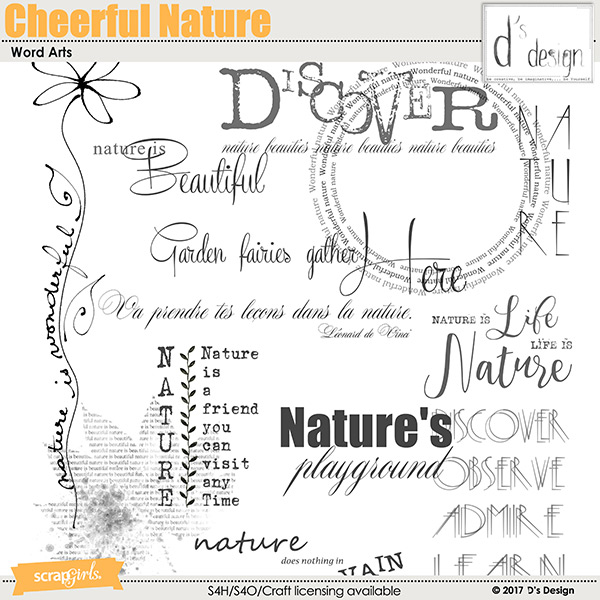 cheerful nature word arts by d's design