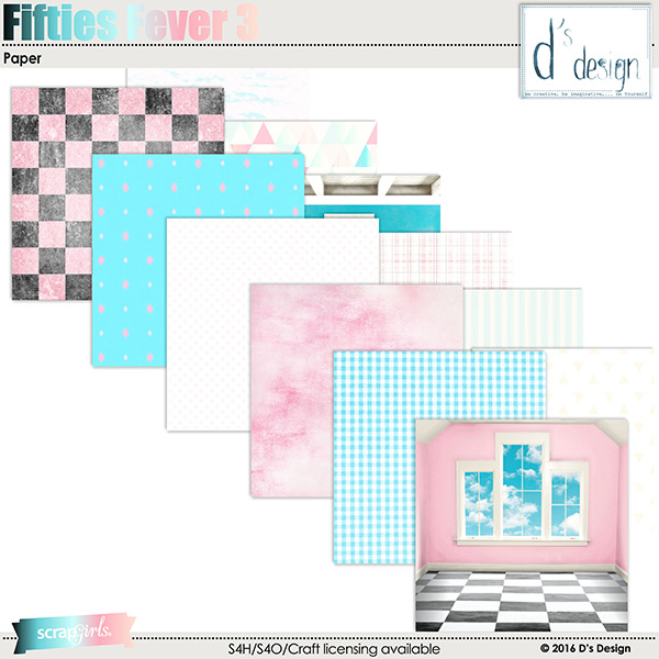 fifties fever 3 paper by d's design