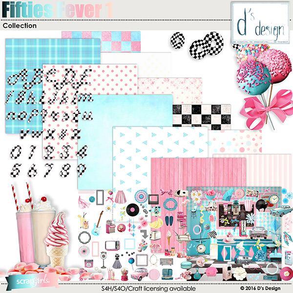 fifties fever 1 collection by d's design