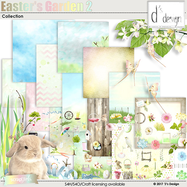 easter's garden 2 collection by d's design