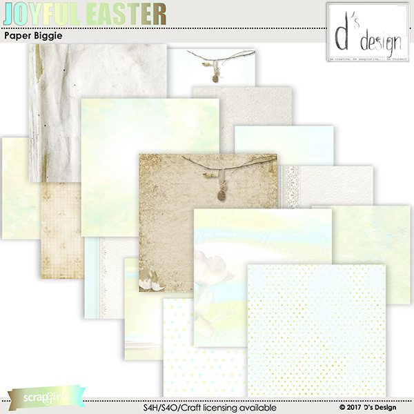 joyful easter paper biggie by d's design