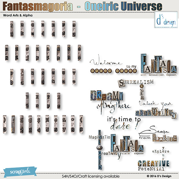 oneiric universe word arts & alpha by d's design
