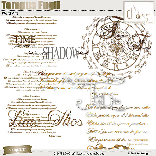 tempus fugit word arts by d's design