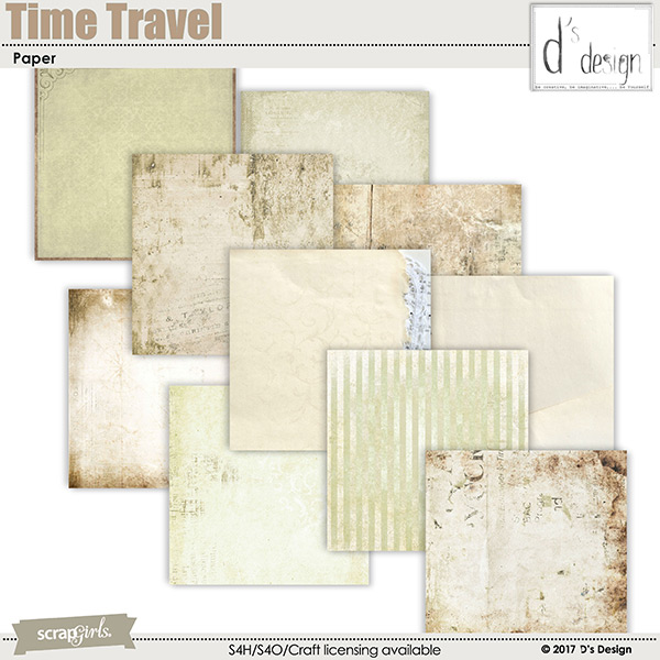 time travel paper by d's design