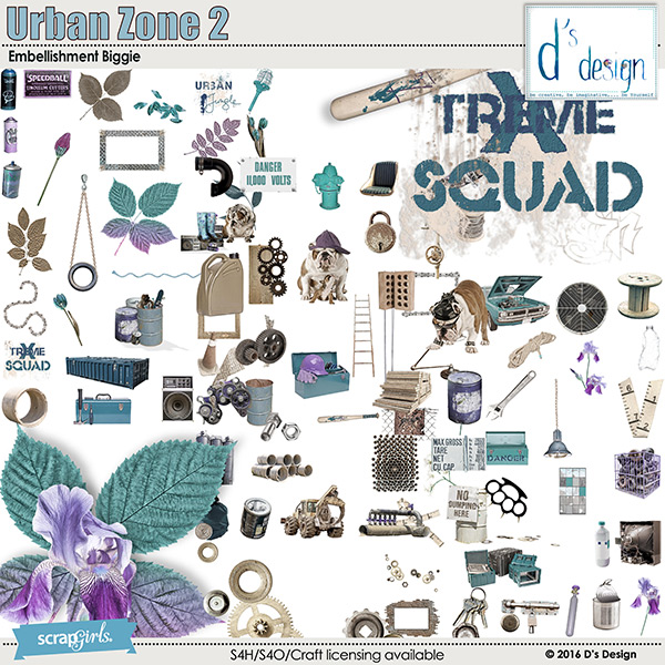 urban zone 2 embellishment biggie by d's design