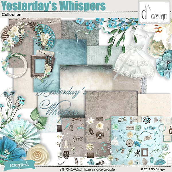 yesterday's whispers collection by d's design