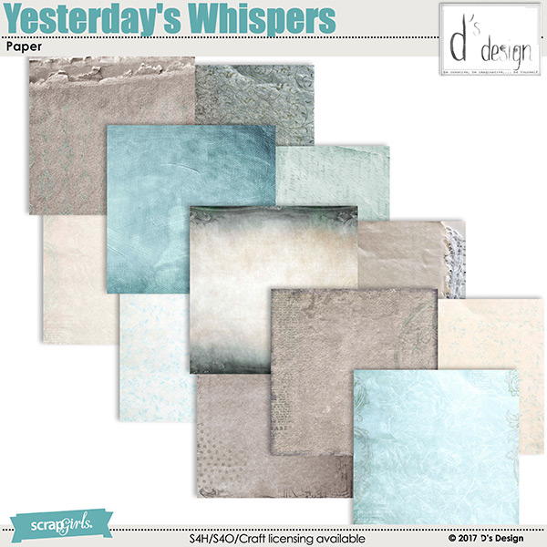 yesterday's whispers paper by d's design