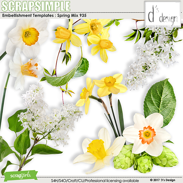 Spring Mix 935 by D's Design - Embellishment Templates