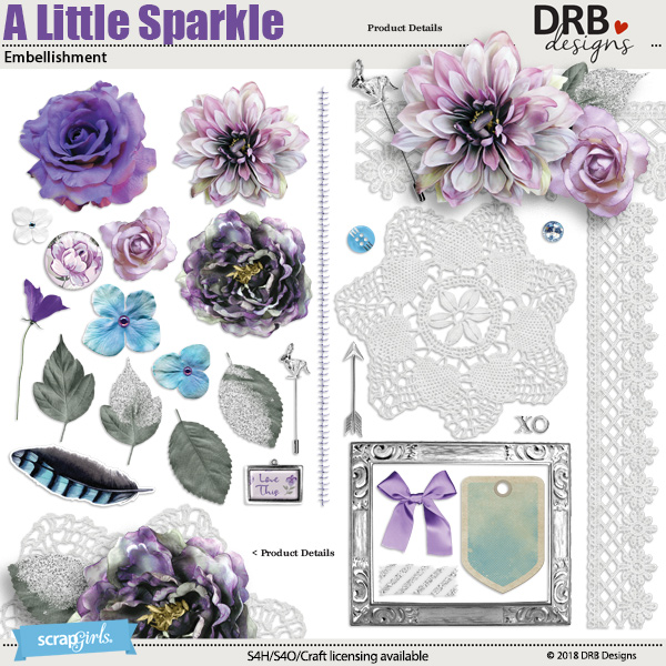 A Little Sparkle Embellishment by DRB Designs | ScrapGirls.com