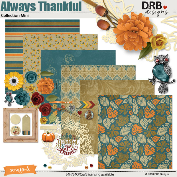Always Thankful Collection Mini by DRB Designs | ScrapGirls.com