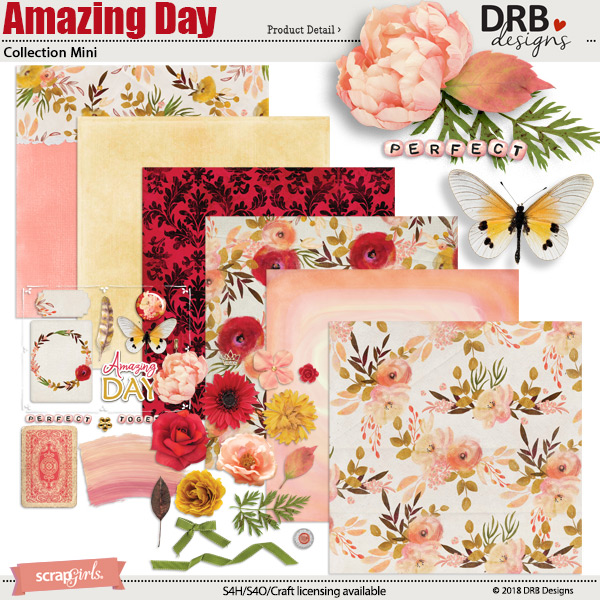 Amazing Day Collection Mini by DRB Designs | ScrapGirls.com