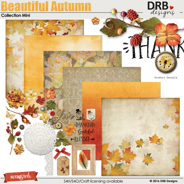 Beautiful Autumn Collection Mini by DRB Designs | ScrapGirls.com