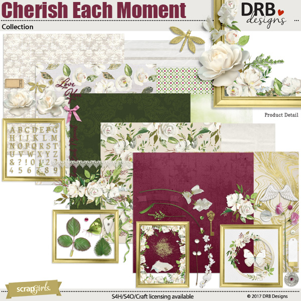 Cherish Each Moment Collection by DRB Designs | ScrapGirls.com